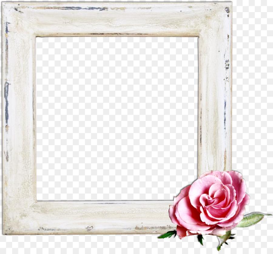 Paper Picture Frames Flower power Rectangle Label - Princess Photo ...