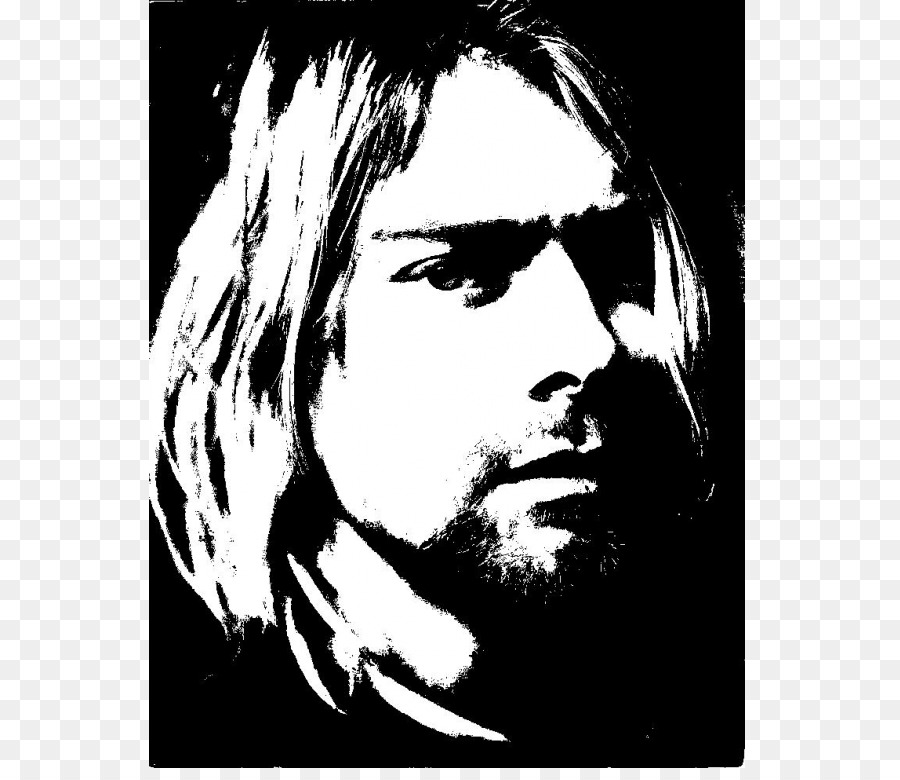 Kurt Cobain Nirvana The Vaselines Stencil Drawing - Kurt Cobain png ...