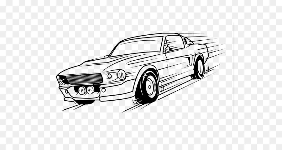 Ford Mustang Coche de libro para Colorear de Dibujo - Estilo Retro ...