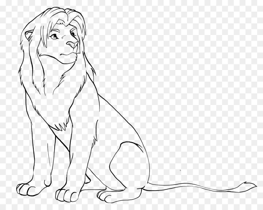 León de la Línea de arte Mufasa Simba Dibujo - león png dibujo ...