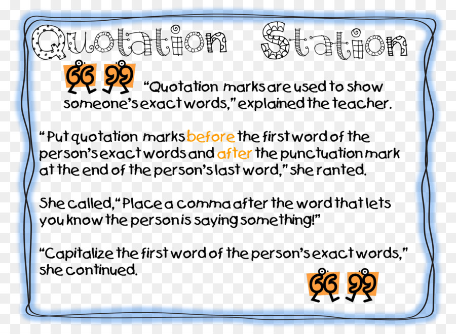 Quotation Marks In English Punctuation Lesson Quotation Png