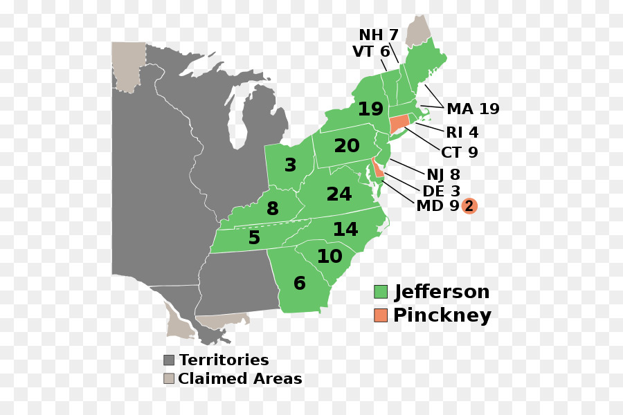 United States Presidential Election 1804 United States Presidential - Map-of-us-in-1804