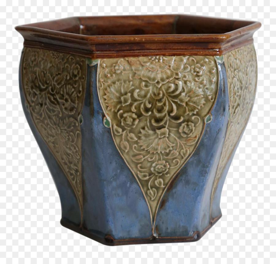 Chairish Ceramic Vase Art Nouveau Jardiniere Royal Doulton Png