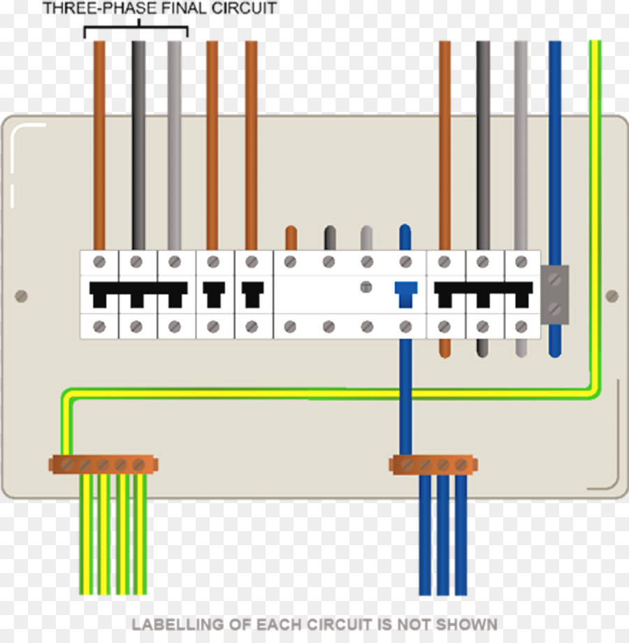 Wiring diagram Electric switchboard Electrical Wires & Cable Distribution  board Home wiring - Single-phase Electric Power