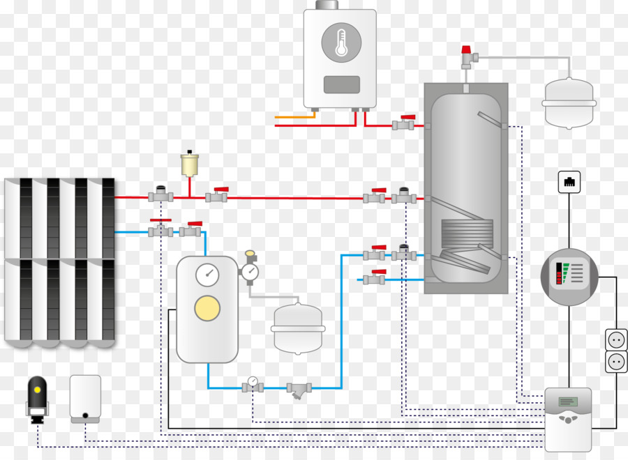 Central heating Heating system Diagram Radiator - Heating System png ...