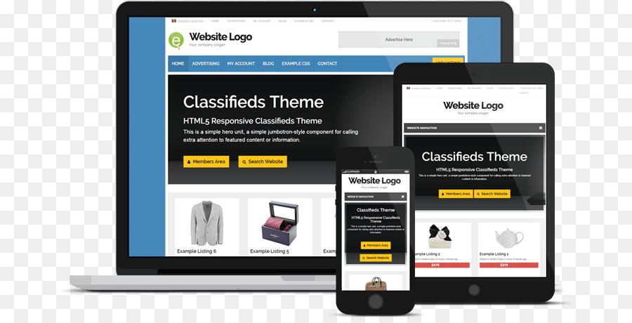 Página Web Responsive web design, anuncios Clasificados de WordPress ...