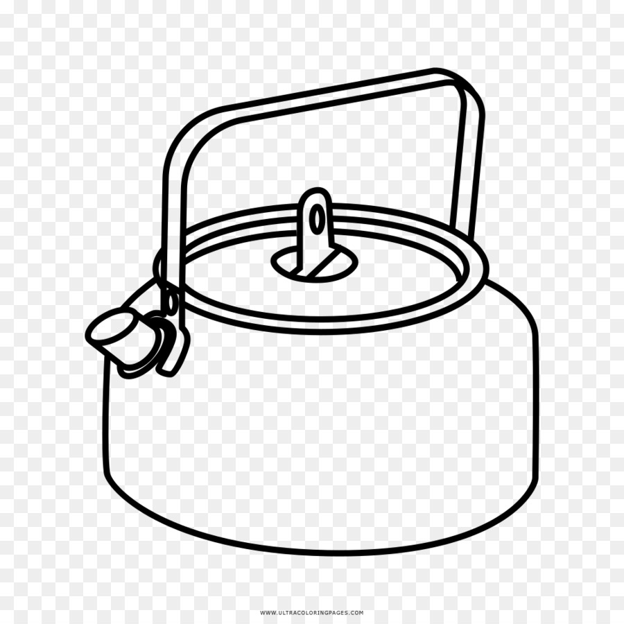 Electric kettle Coloring book Cookware Drawing - kettle png download ...