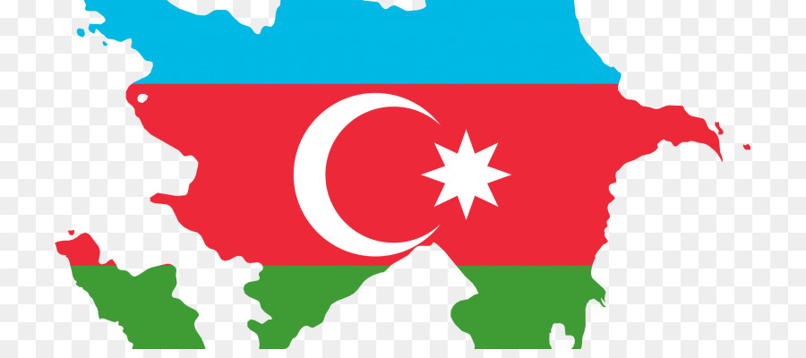 Azerbaijan Flag Map