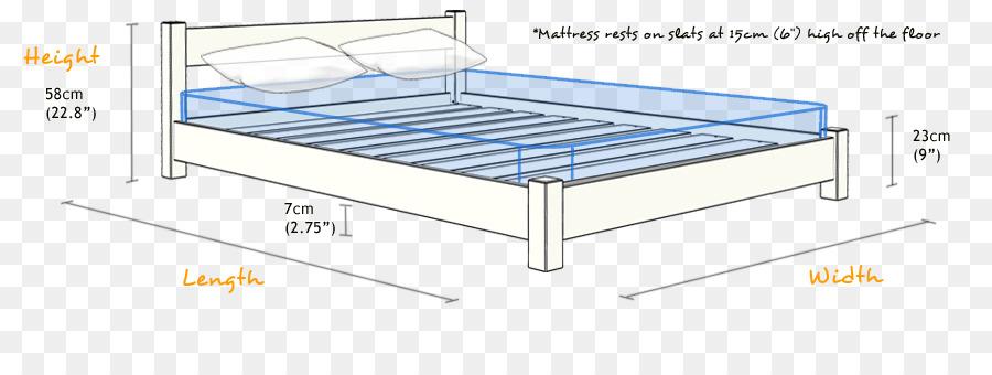 Marco de la cama con el Colchón de la Cama de tamaño de Litera ...