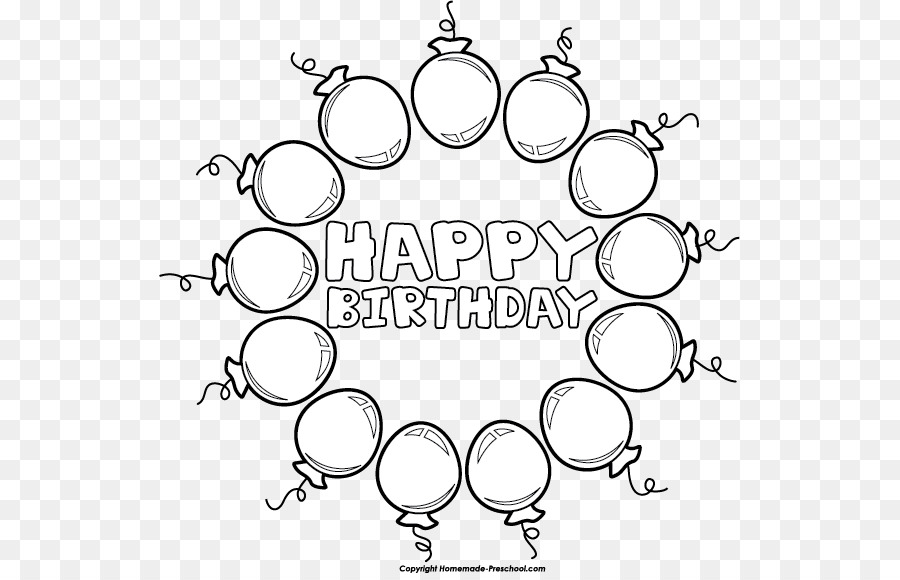 line art balloon clip art happy birthday template png download