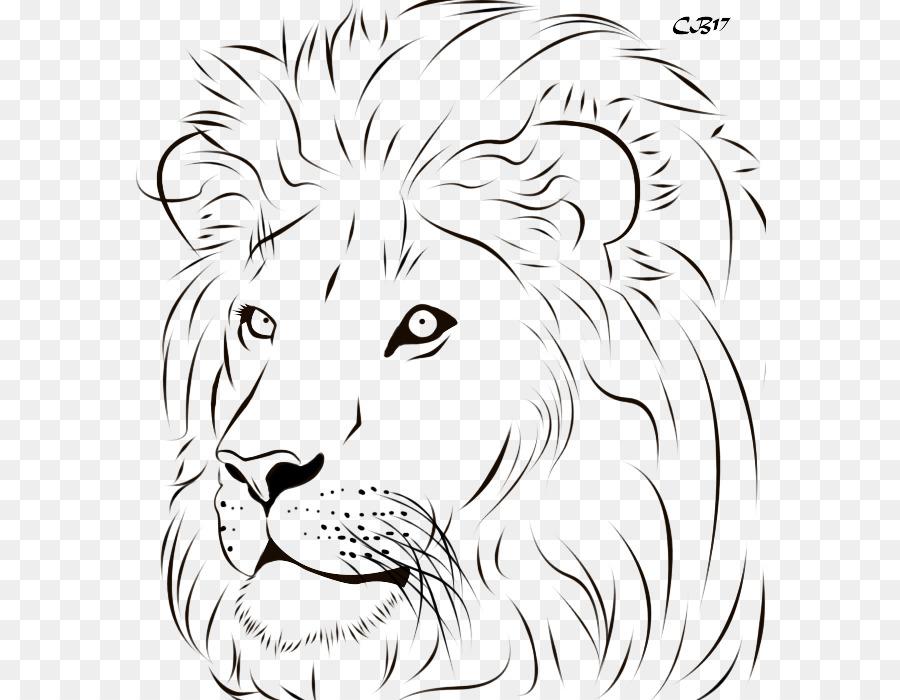 Lion Tiger Line Art Drawing Clip Art   Lion