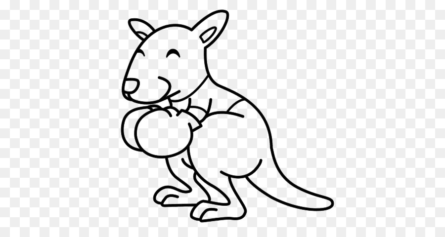 Boxing kangaroo Large Coloring Pages: Coloring Books for Kids ...