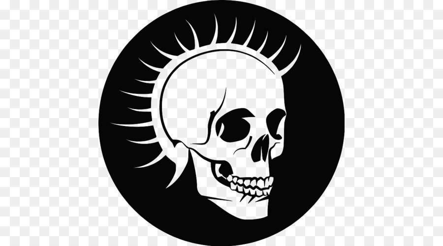 Human Skull Symbolism Punk Rock Skull Png Download 500500