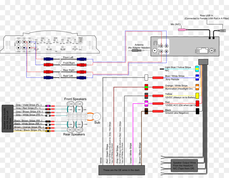 wiring diagram schematic electrical wires \u0026 cable amplifiers png Amplifier Wiring Diagram 6 Speaker 4 Channel wiring diagram schematic electrical wires \u0026 cable amplifiers
