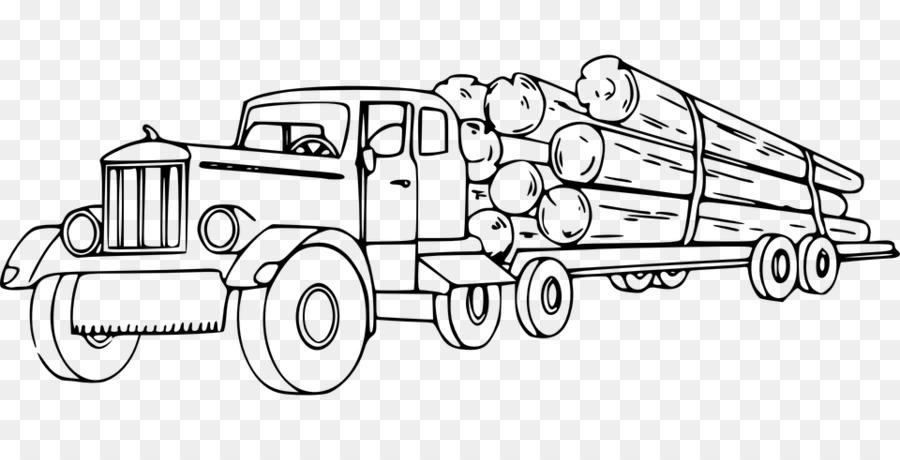 Peterbilt Registro camioneta camión Semi-remolque de un Leñador ...