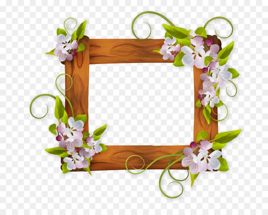 Diseño Floral Marcos Clip art - la madera Formatos De Archivo De ...