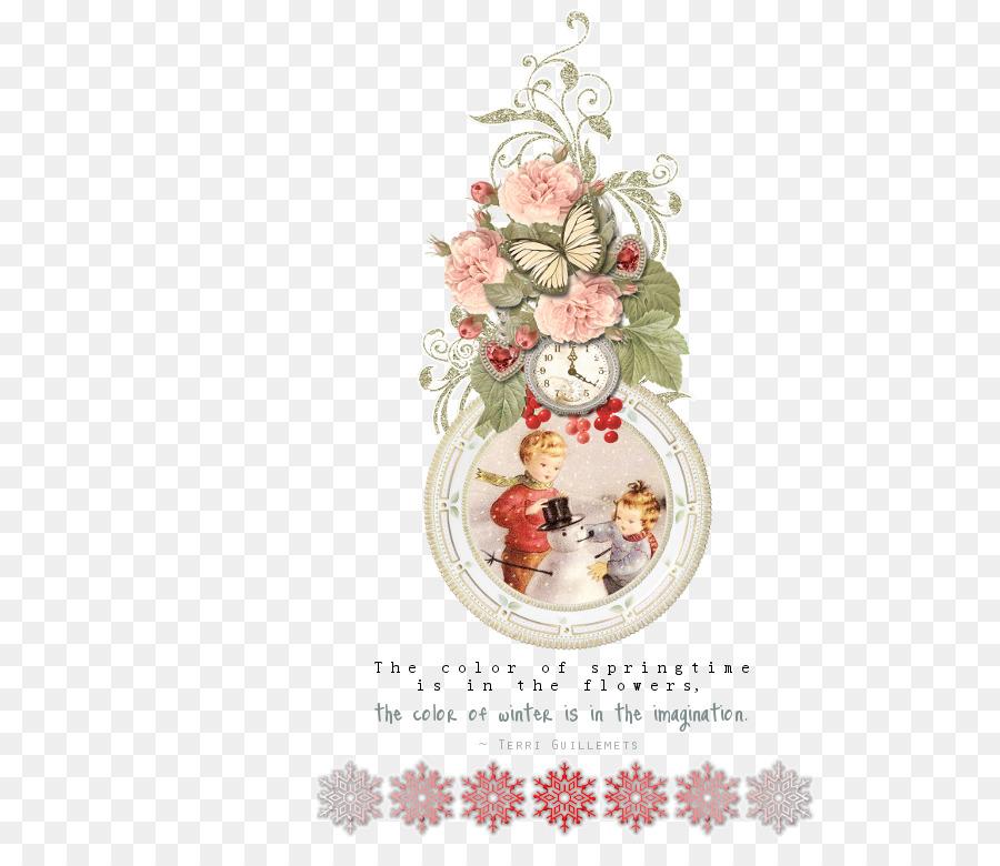 둥근액자 Picture Frames Christmas ornament - winter-kids png ...