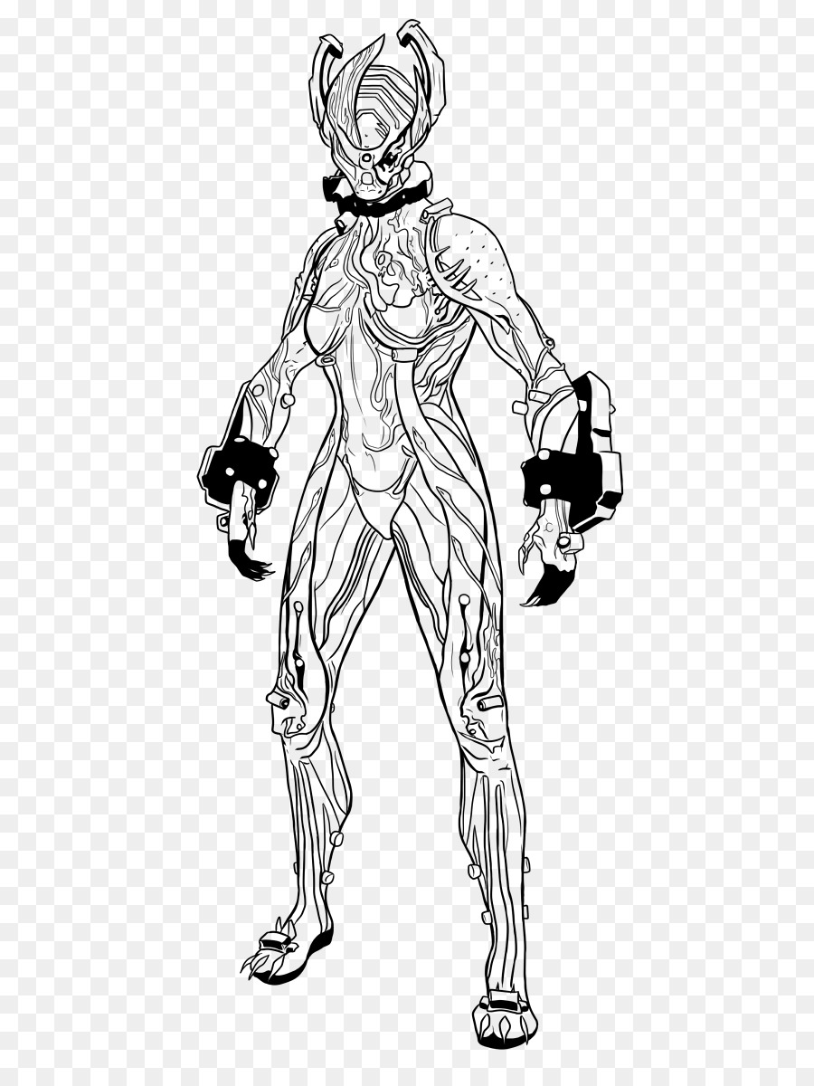Warframe Coloring Book Drawing Line Art Sketch Flower Sketches Png