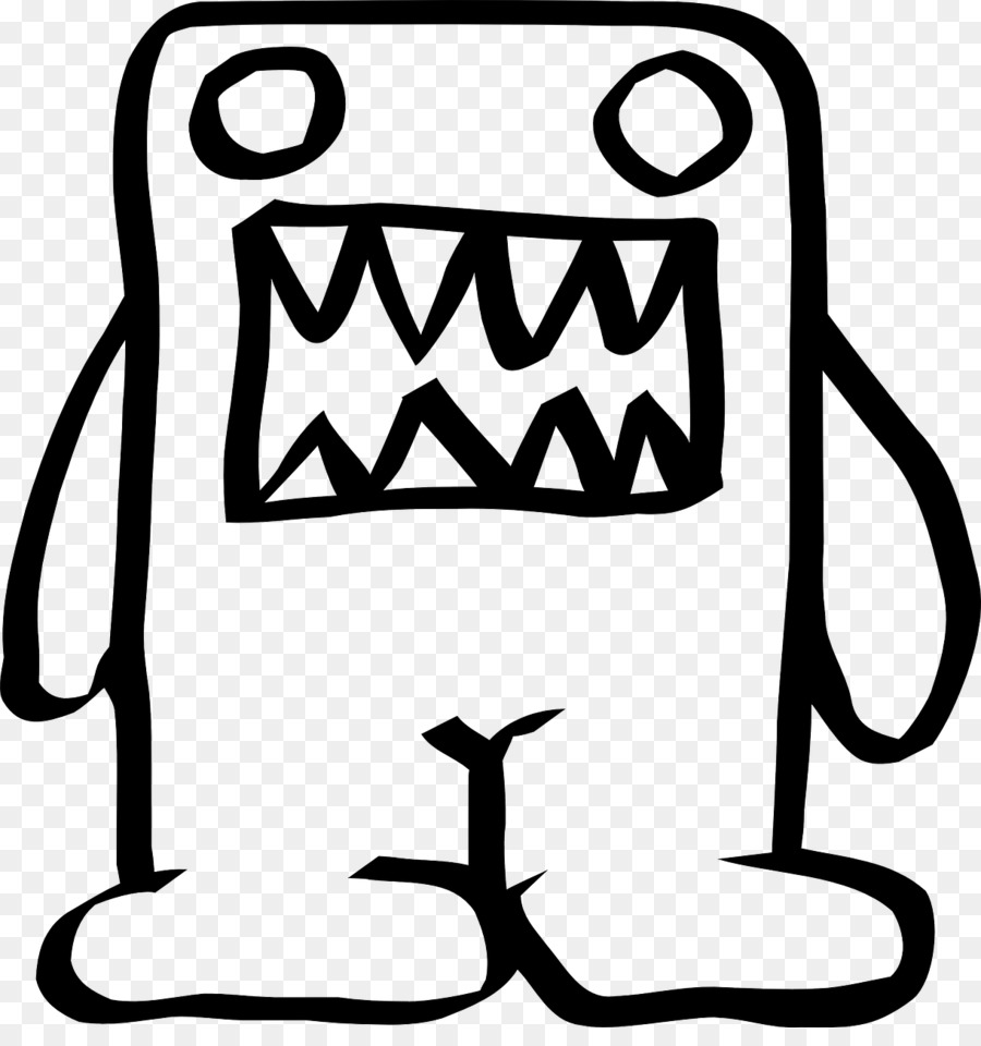 Domo Coloring Book Drawing Clip Art