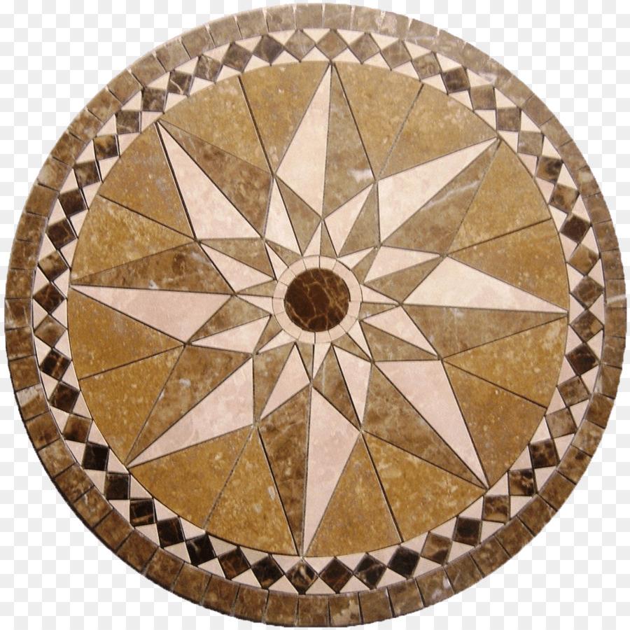 Mosaic Tile Floor Medallions Marble Ceramic Floor Medallions Png