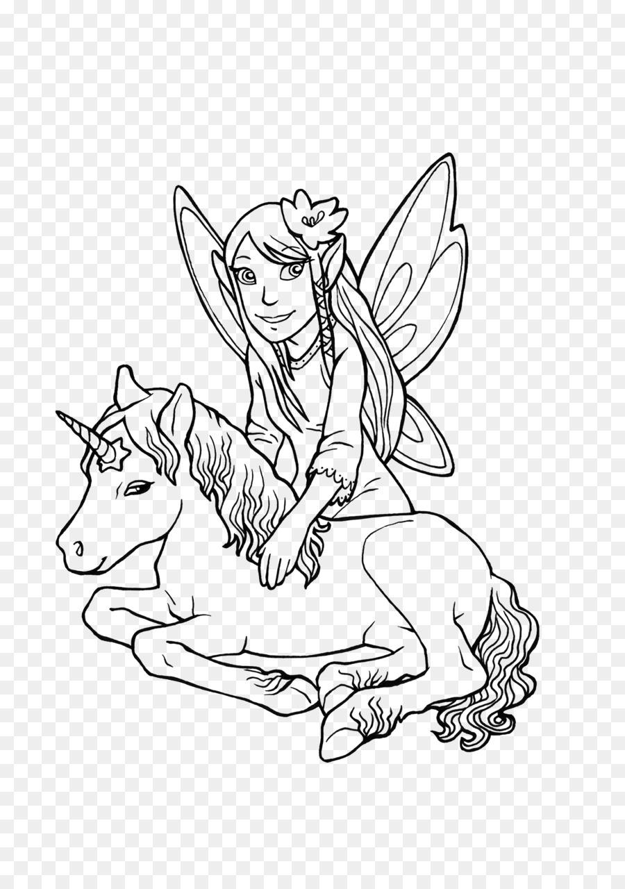 Ausmalbild Elf Unicorn Legendary creature Coloring book - Elf png ...