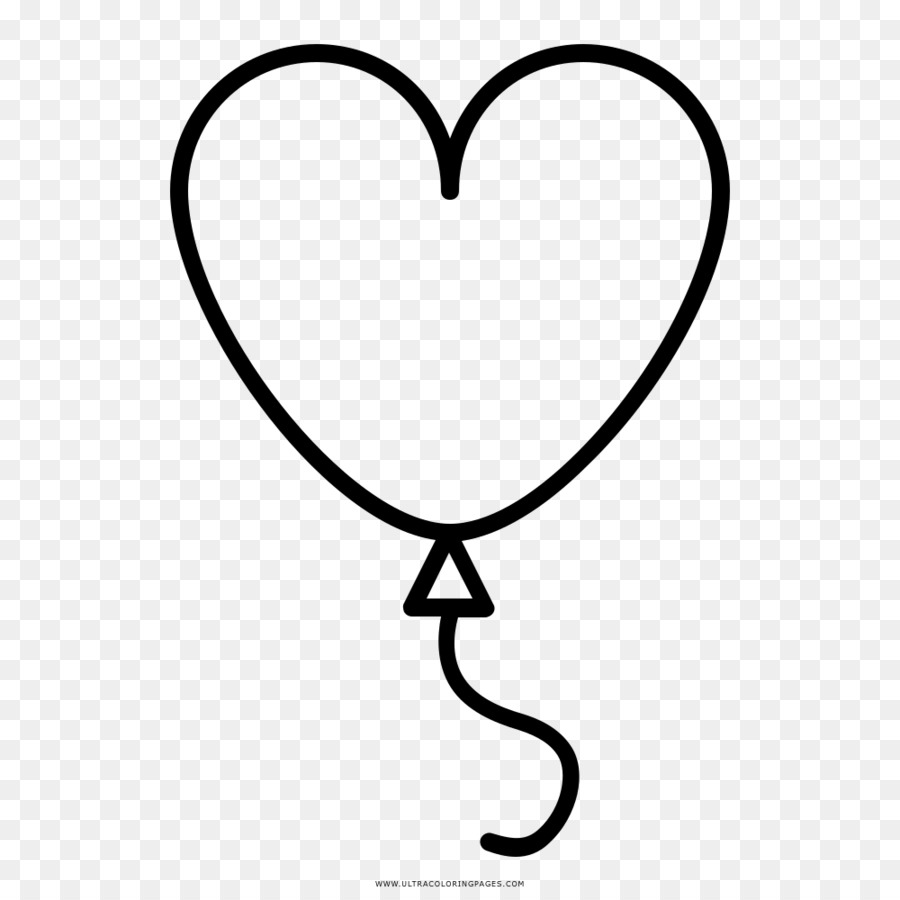 Coloring book Drawing Toy balloon Heart - heart png download - 1000 ...
