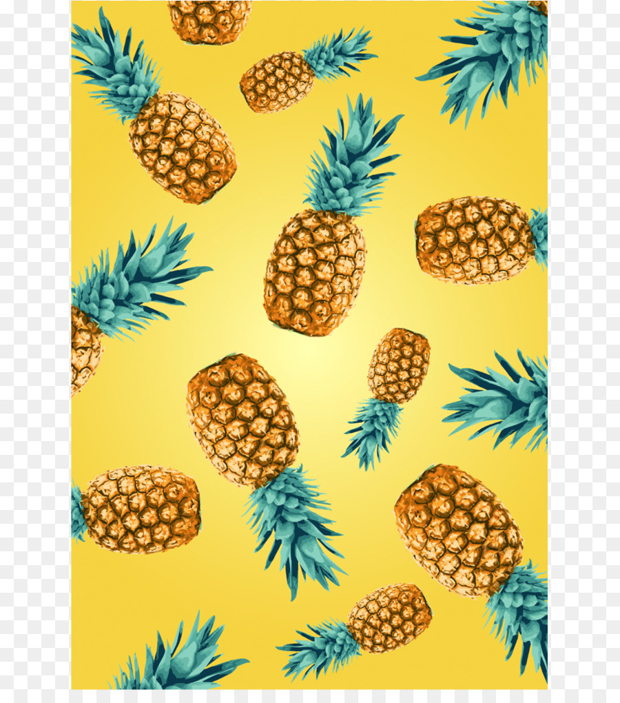 Pineapple Desktop Wallpaper Flamingos Blue