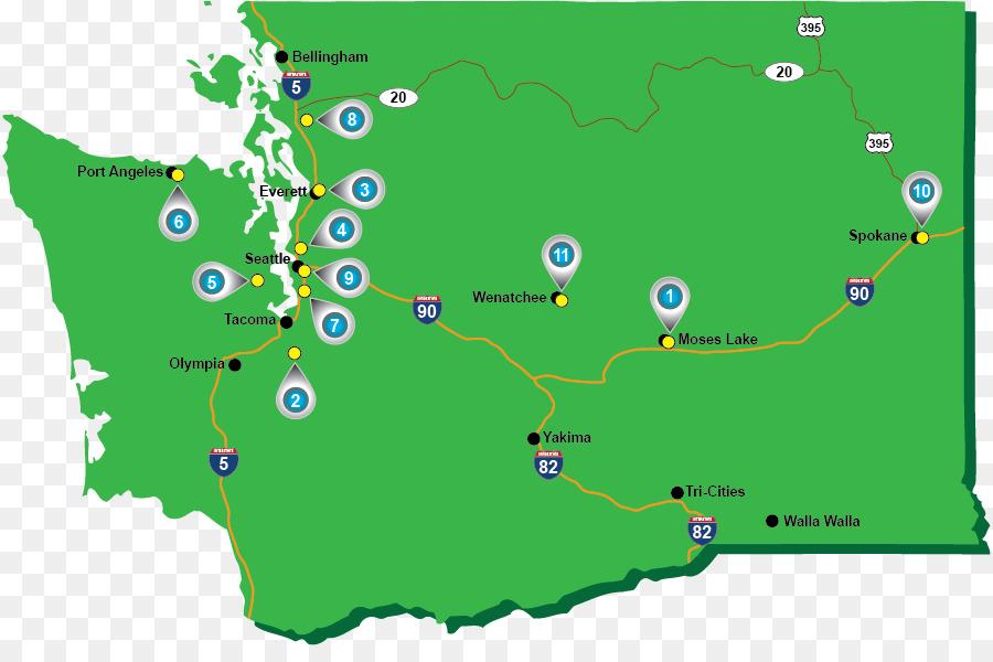 Washington Map Royalty Free Map Png Download 896 587 Free