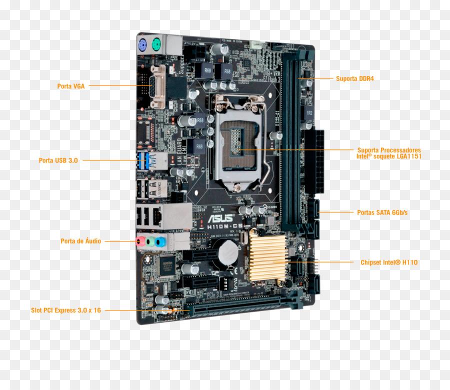 Intel DDR4 SDRAM microATX LGA 1151 Motherboard - intel png download
