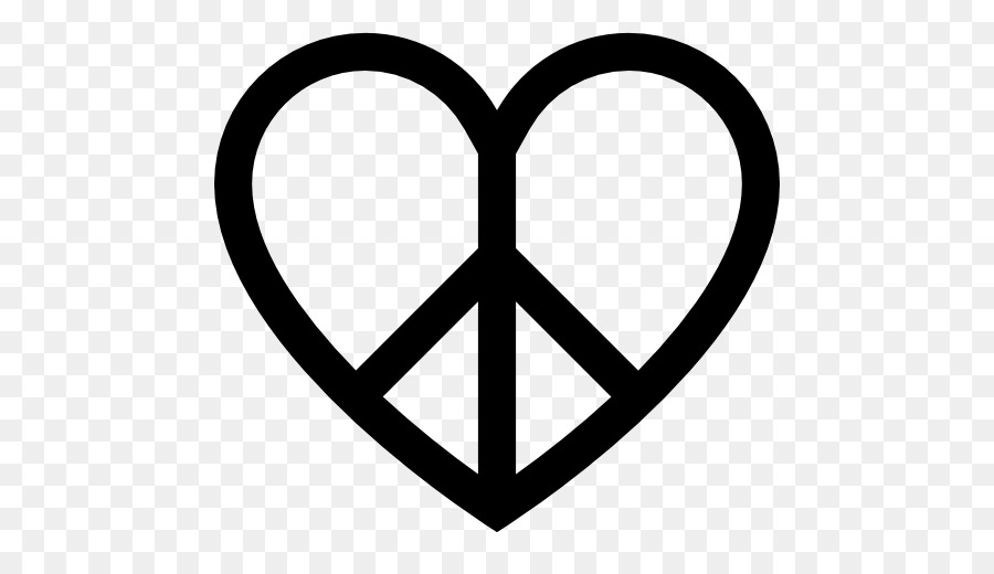 Peace Symbols Heart Symbol Png Download 512512 Free