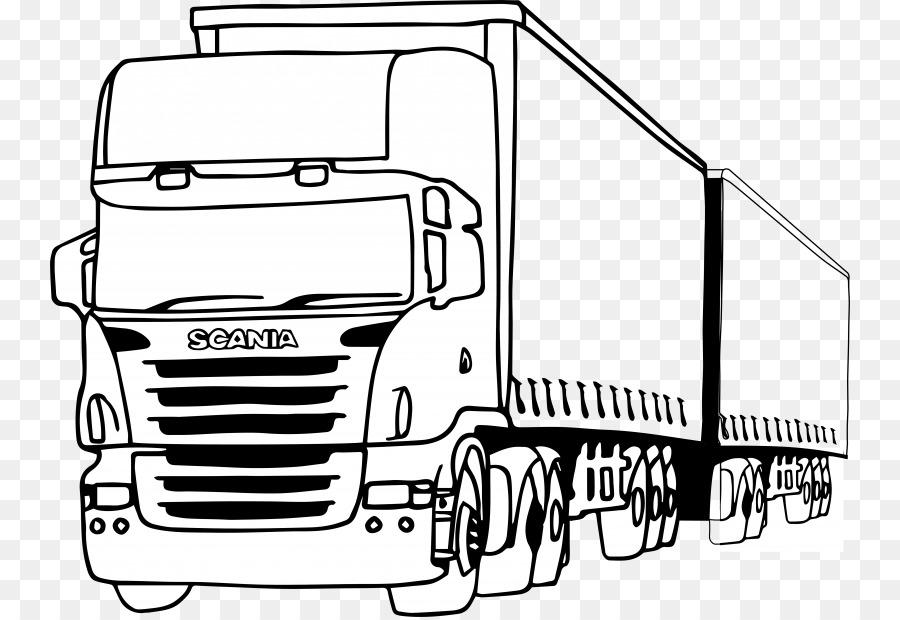 Scania AB y camión Pickup Coches para Colorear libro - camioneta png ...