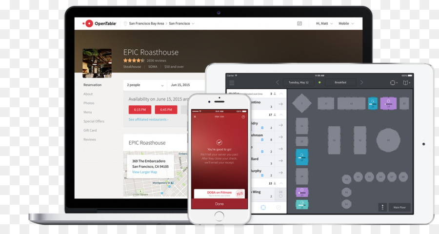 OpenTable Computer Software Restaurant Management Table Png - Restaurant table management software free