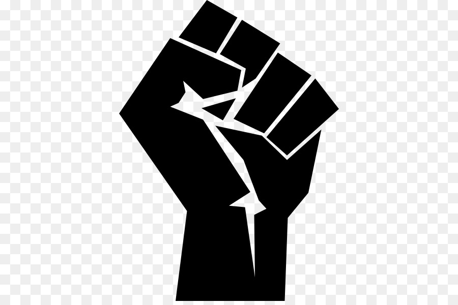 Raised Fist Black Power Black Panther Party Symbol Png Download