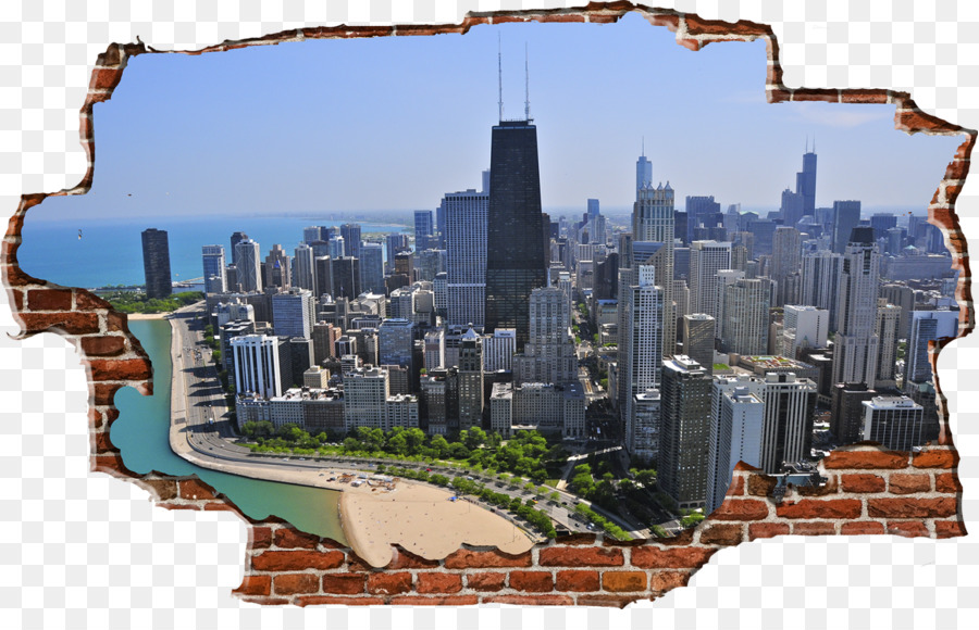 Uptown Business Wall decal Chicago Skyline Art - Chicago Skyline png ...