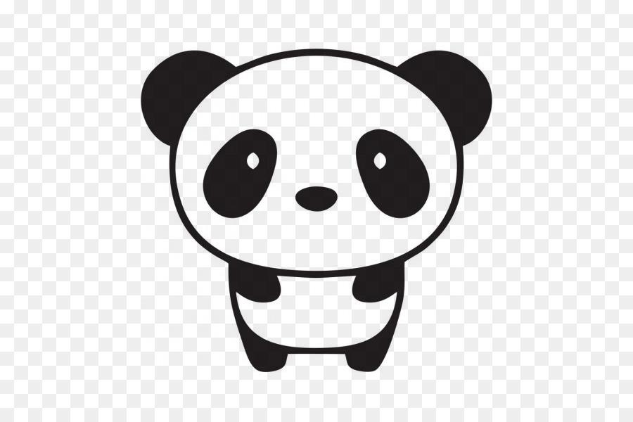 Panda Raksasa Bumper Sticker Stiker Dinding Hal Keren Menggambar Animasi