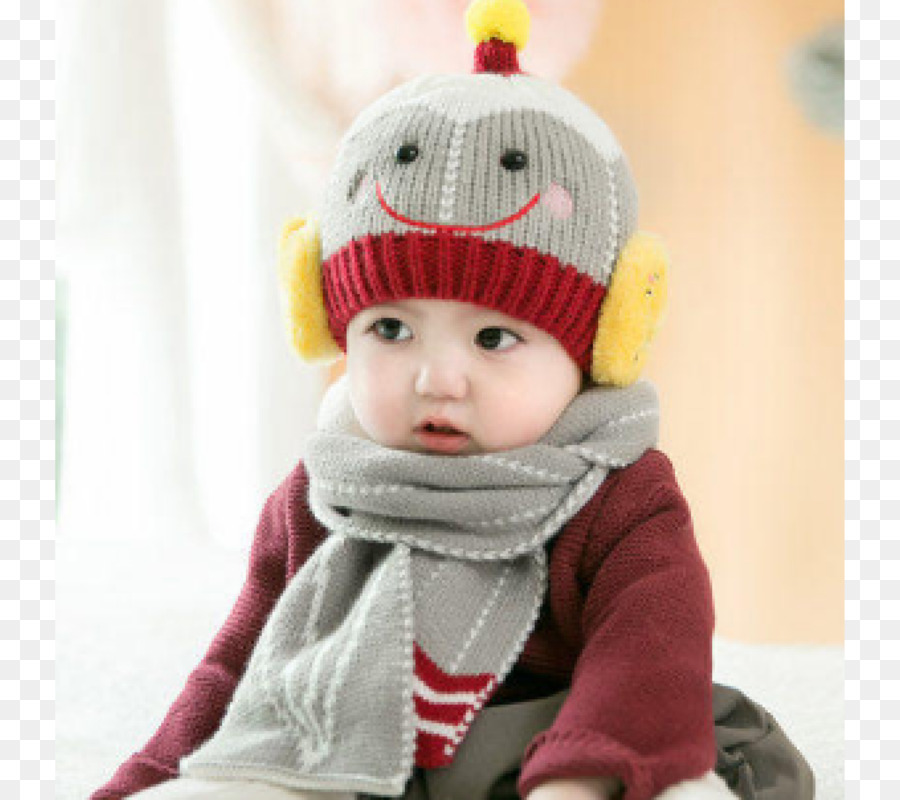 Chapéu de Malha de Lã cap Criança Cachecol - Chapéu - Transparente ... c4e571aed95