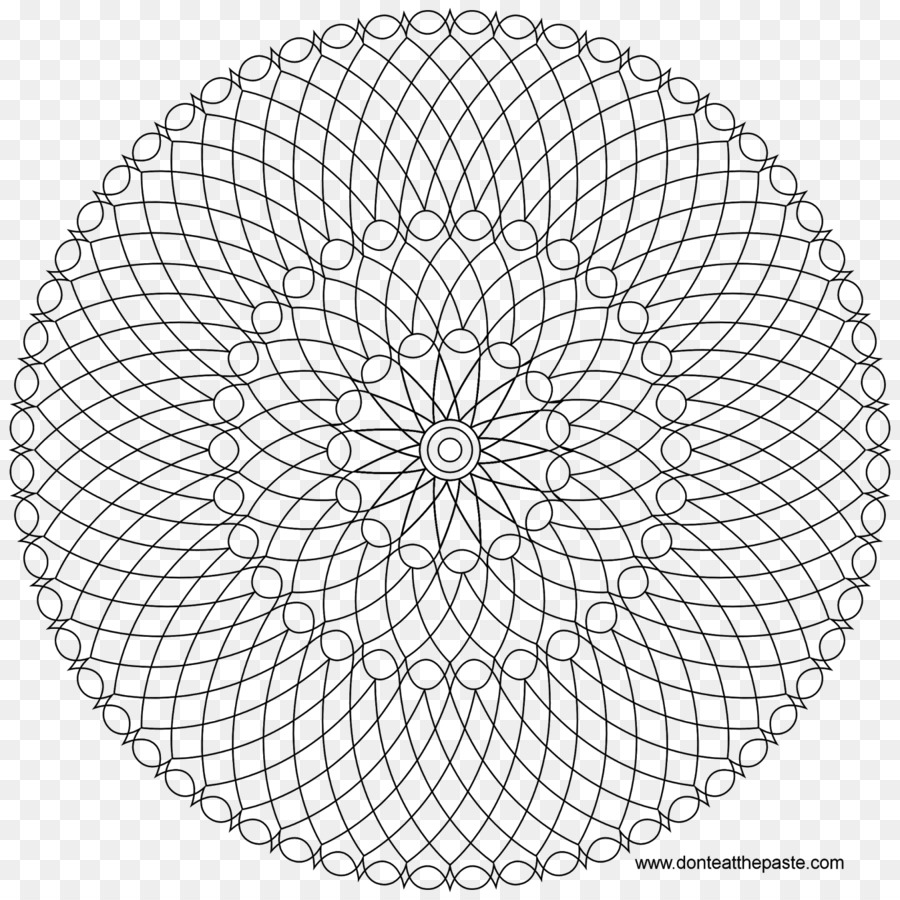 Libro para colorear Mándalas Círculo - Mandala corazón Formatos De ...
