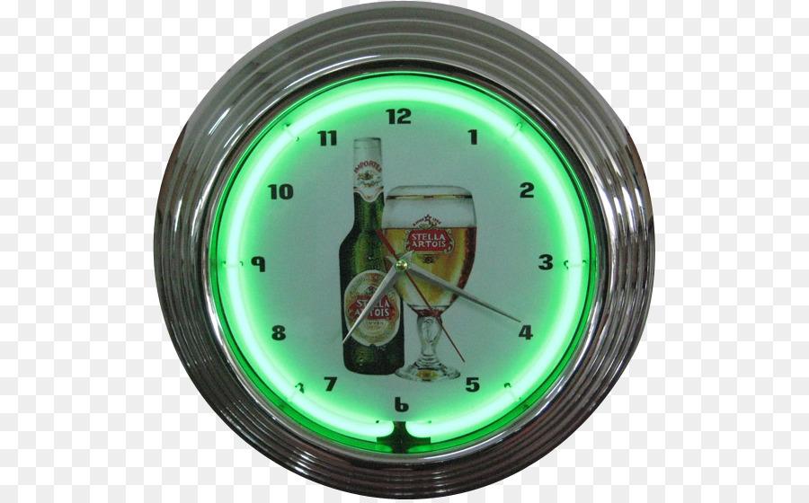 Clock Man Cave Stella Artois Neon Sign Furniture Clock Png
