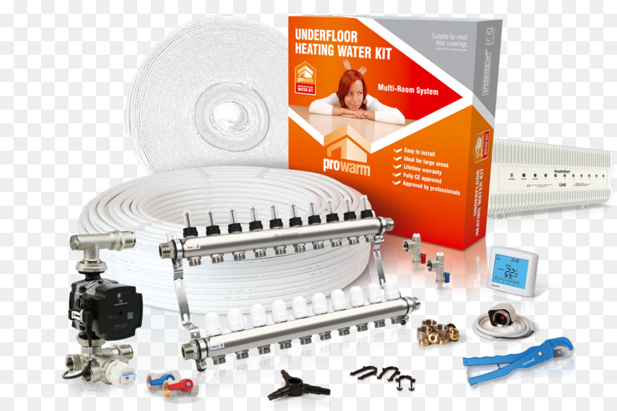 Underfloor heating Heating system Water heating Room Central heating ...
