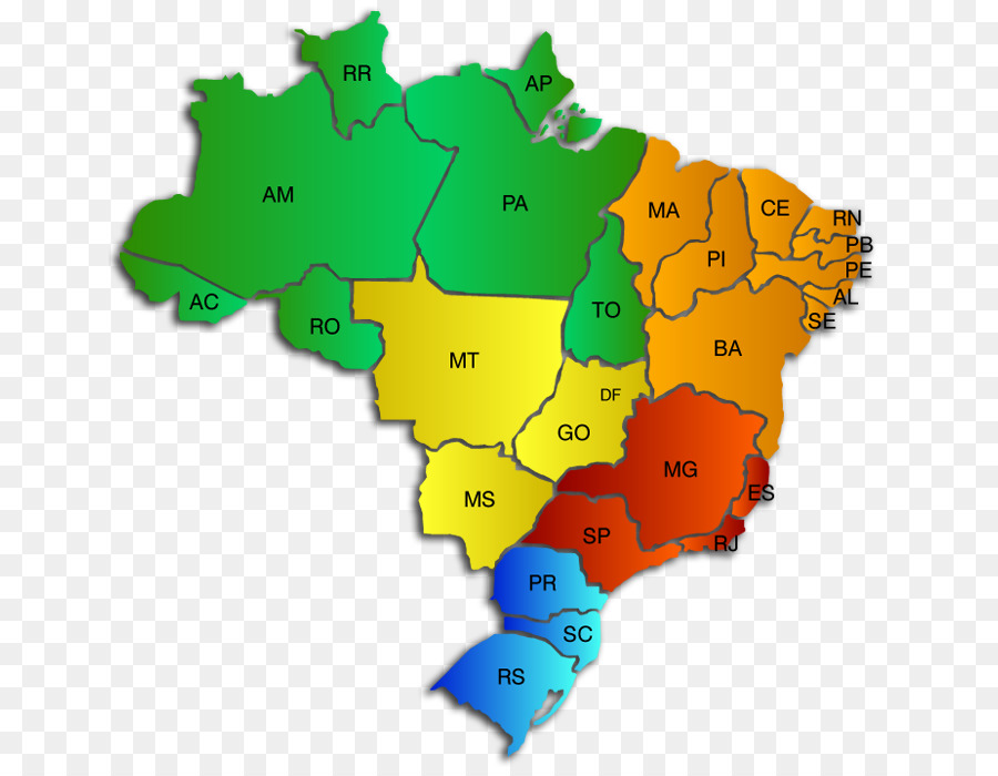 Regions Of Brazil World Map Geography Map Png Download 704 692