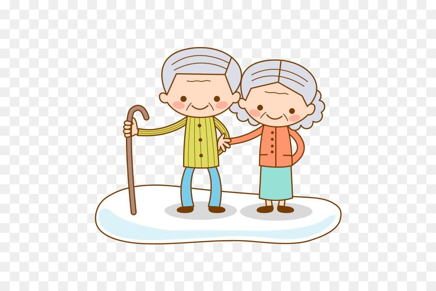 La Vejez Niño De Dibujos Animados De Los Abuelos De