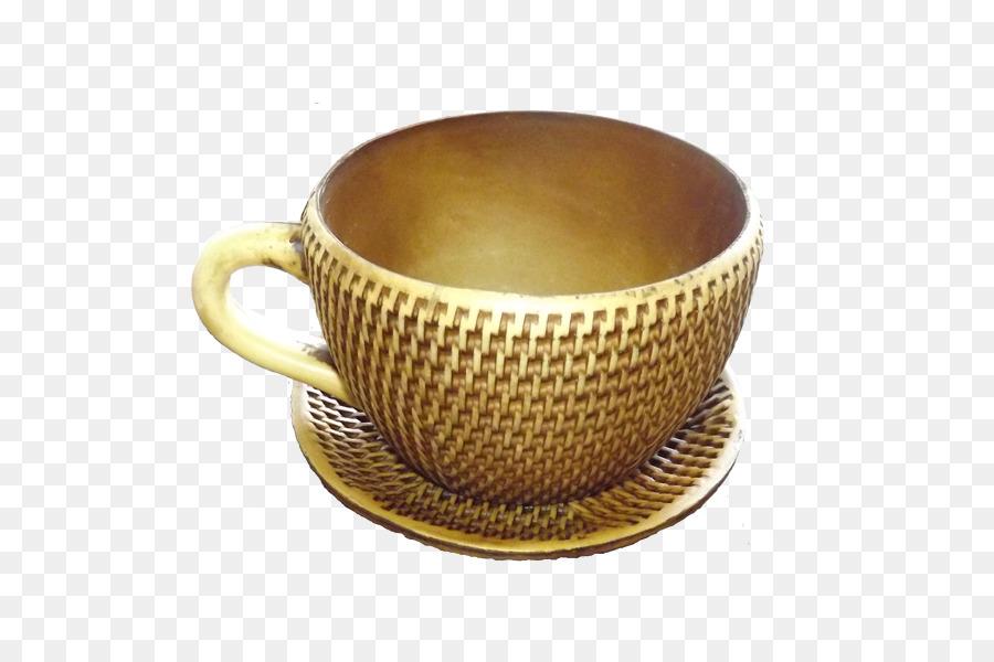 Coffee Cup Saucer Cachepot Teacup Flowerpot Vase Png Download