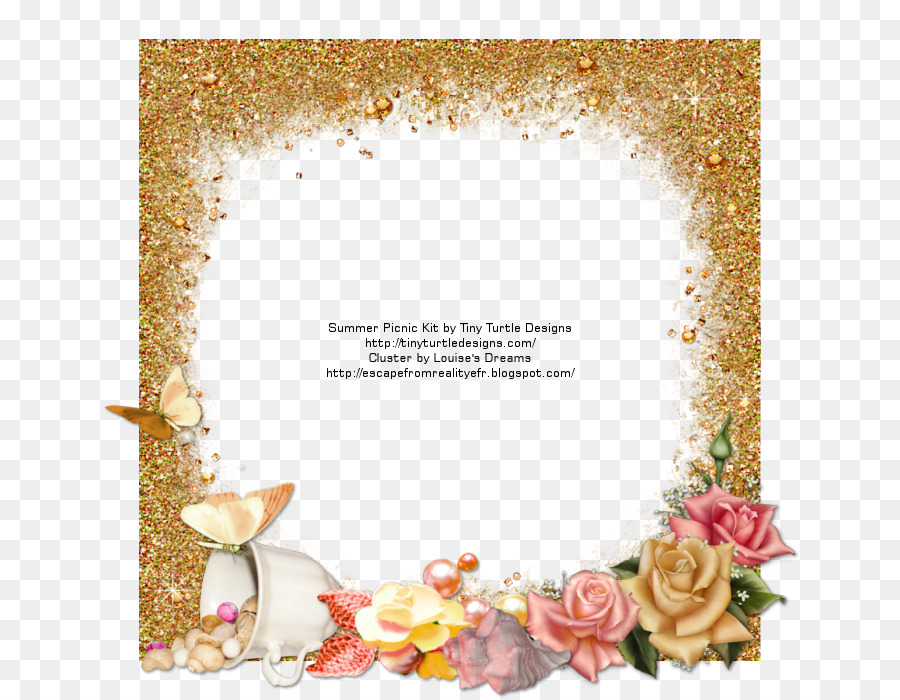 Picture Frames Floral design Reality - Summer picnic png download ...