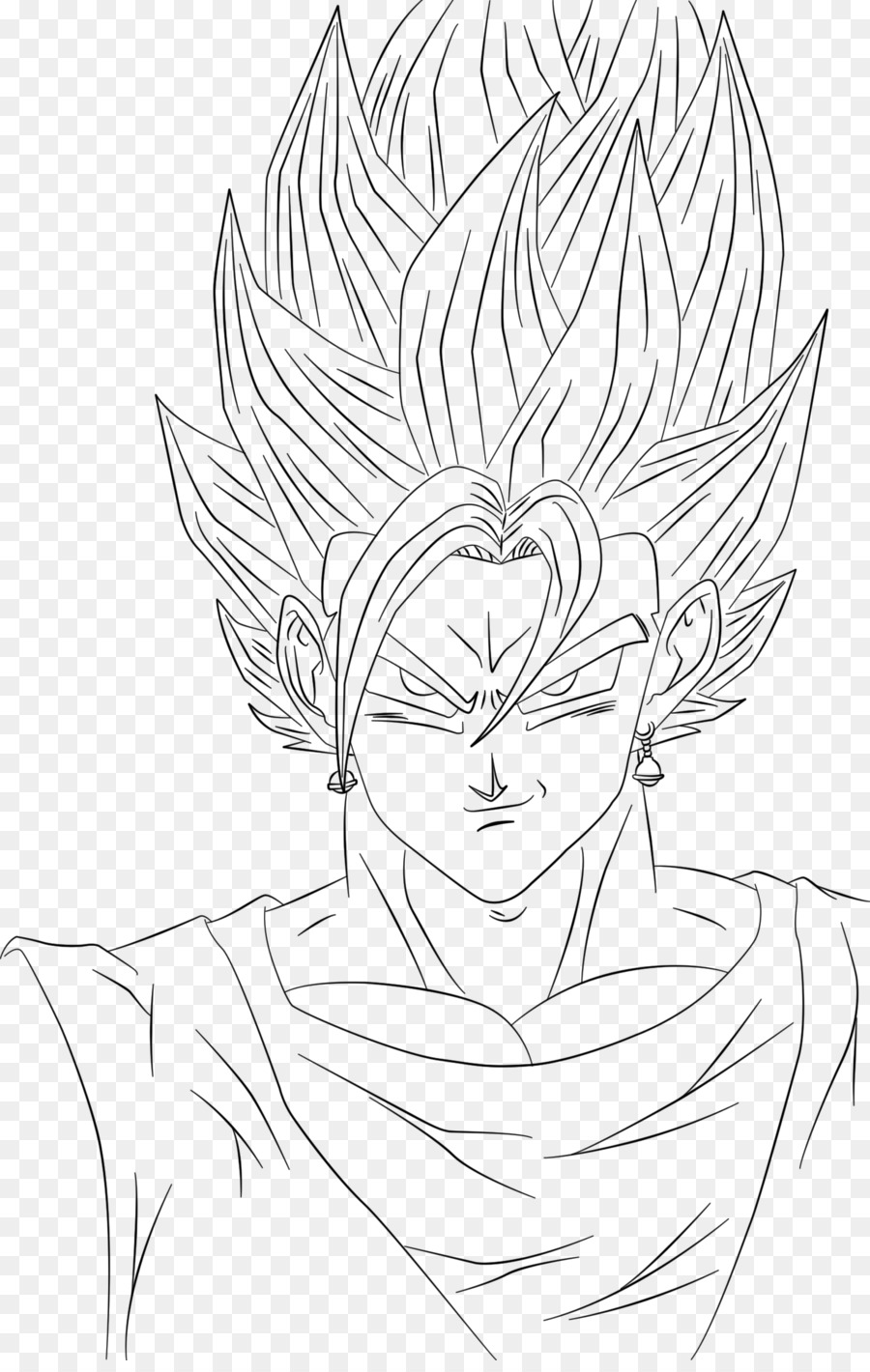 Goku Vegerot Line Art Drawing Sketch Goku Png Download 900 1408