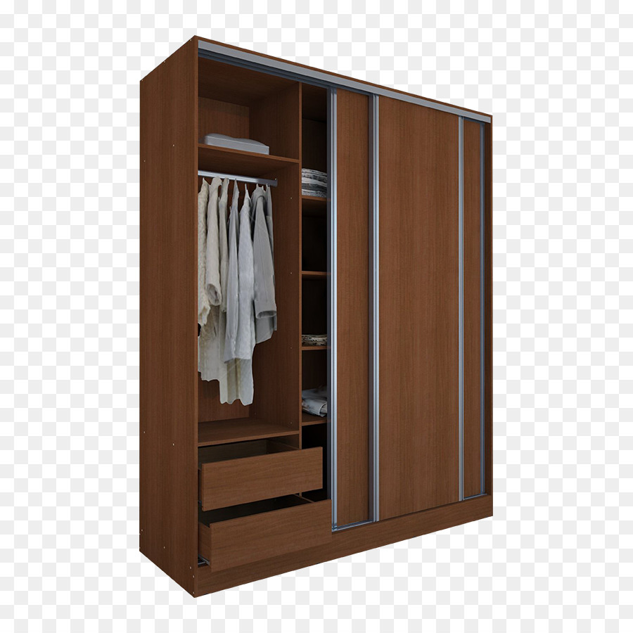 Particle Board Sliding Door Closet Furniture Wardrobe Png