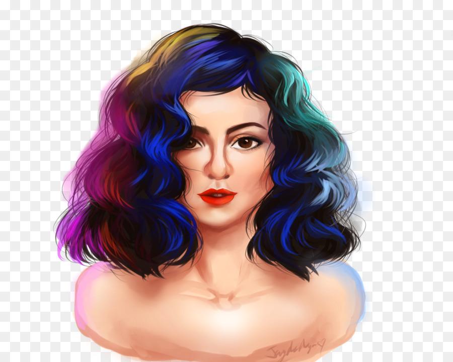 Schwarze Haare Haare Farben Lila Braune Haare Lila Png