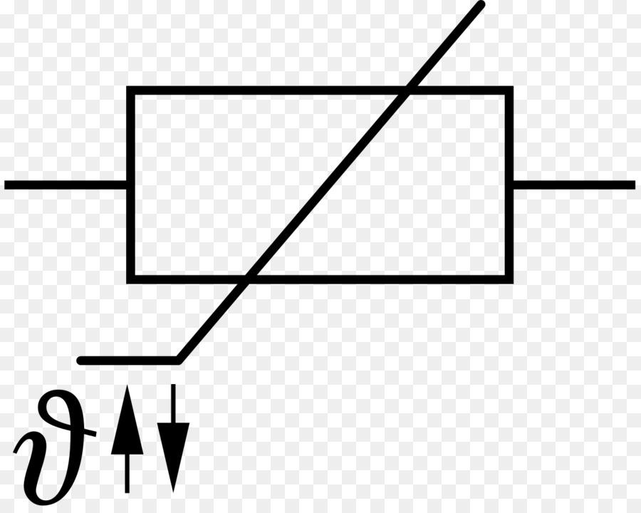 Electronic symbol Resistor Heißleiter Electronics - symbol png ...