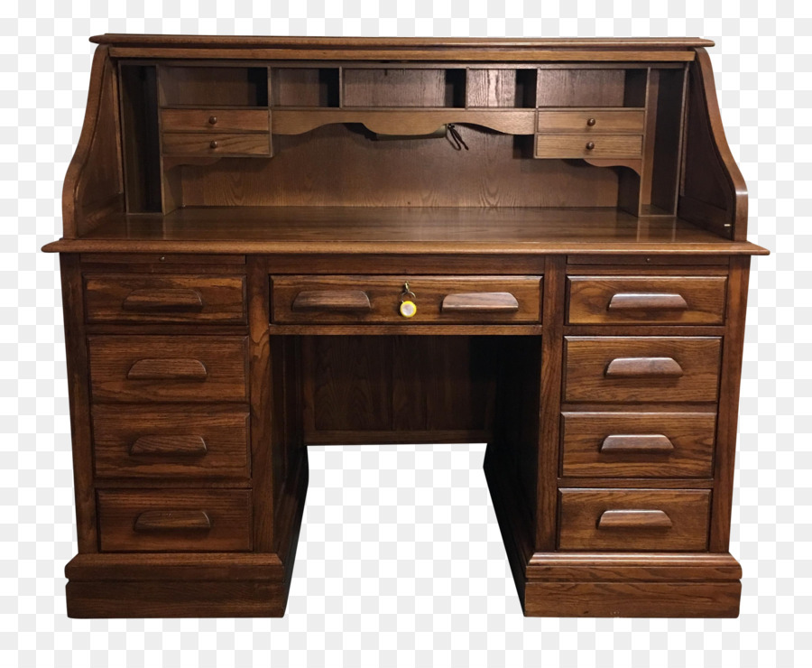 Rolltop Desk Table Office Chairs Drawer