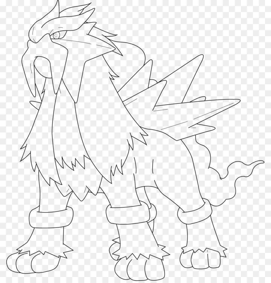 Entei Disegno Da Colorare Di Pokemon Raikou Pokémon Scaricare Png