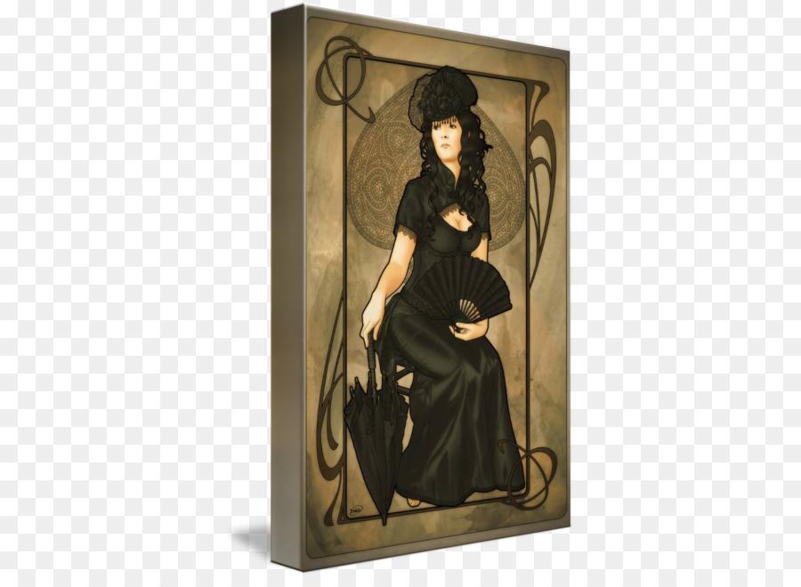Maça Boyama Kraliçe Art Nouveau Oyun Kartı Maça Kızı Png Indir
